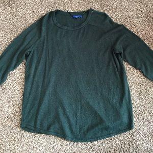 Apt. 9 Dark Green with Silver Specks Sweater XXL